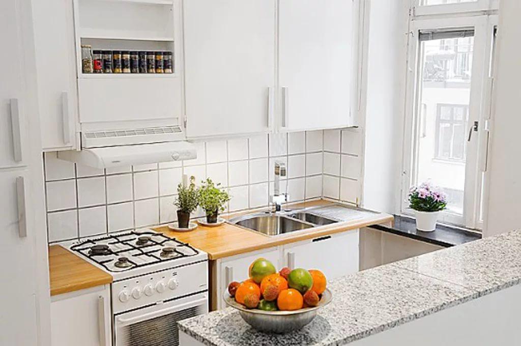 Маленькое пространство кухни дизайн