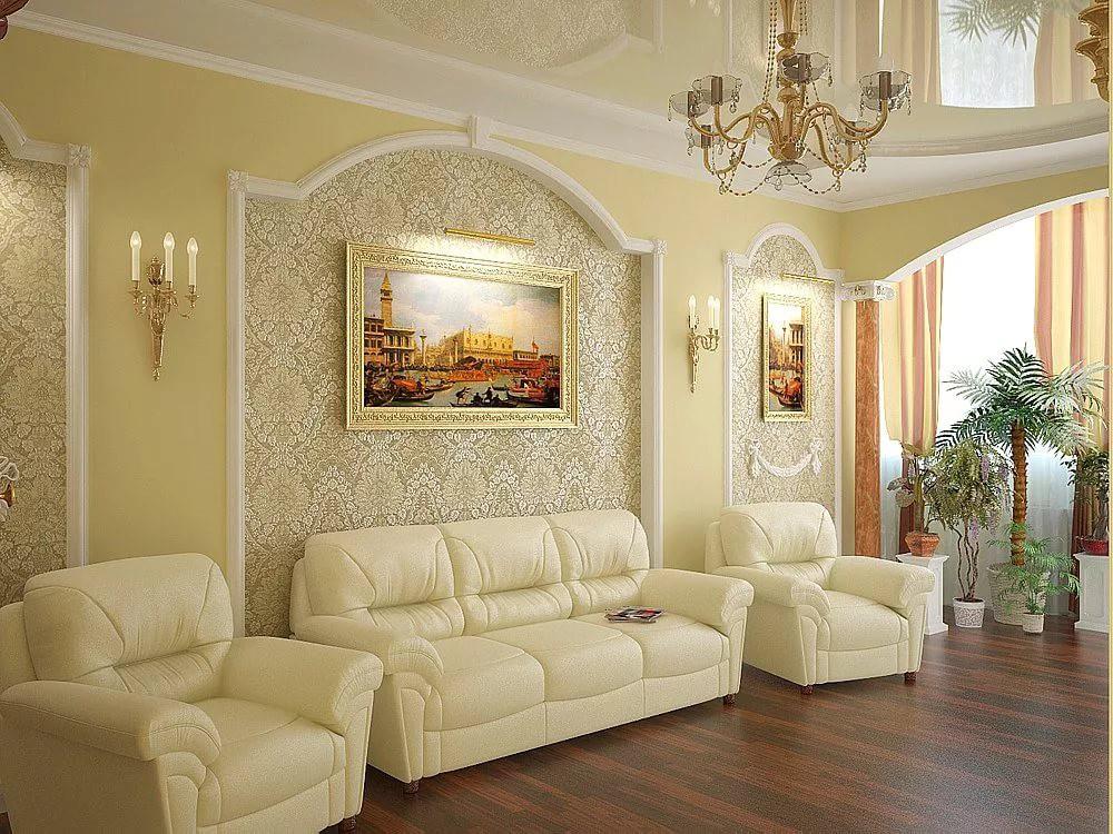 Классический интерьер гостиной 18 кв м фото