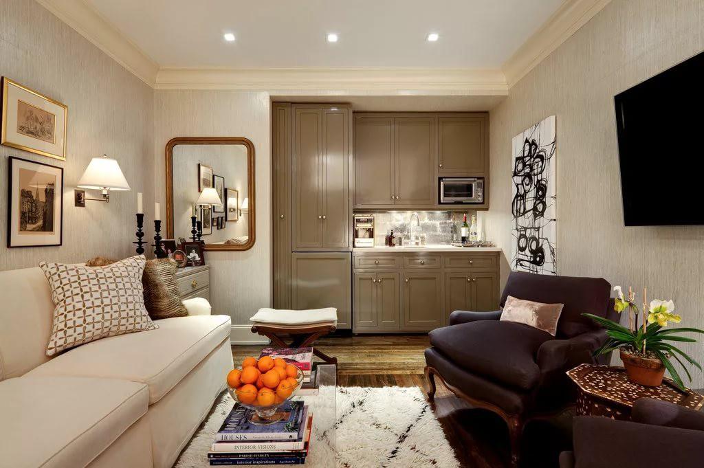 Дизайн квартира-студия 25 кв.м с