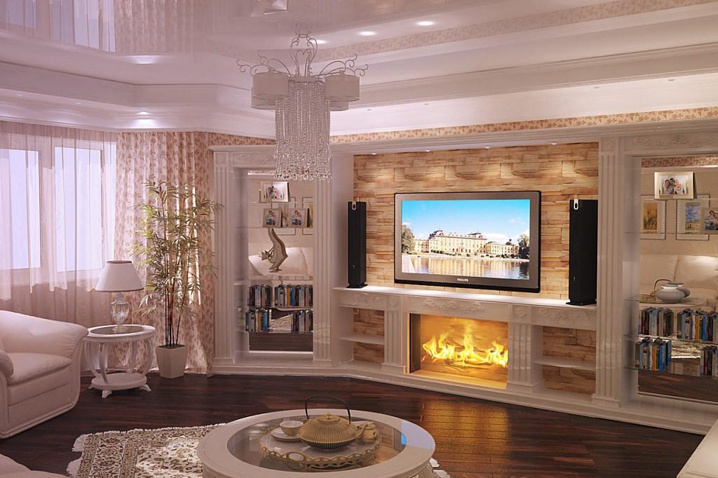 Дизайн квартир классика с каминами
