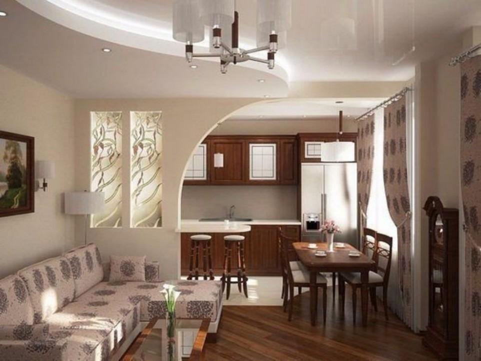 Интерьер квартир кухня зал