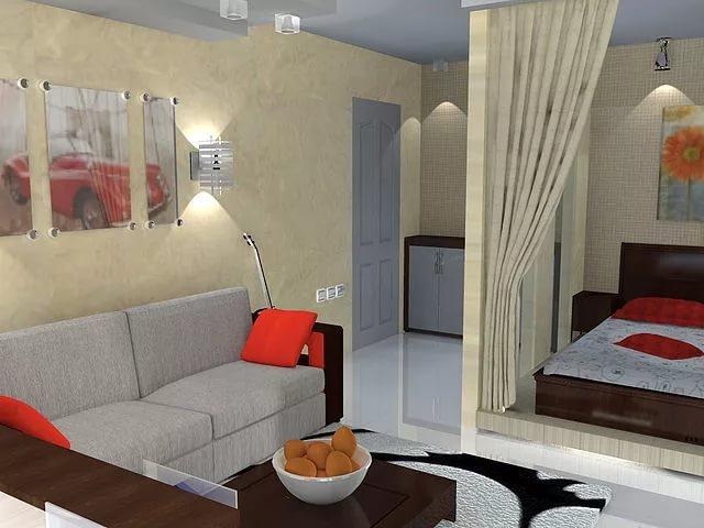 Фото дизайна малометражной квартиры