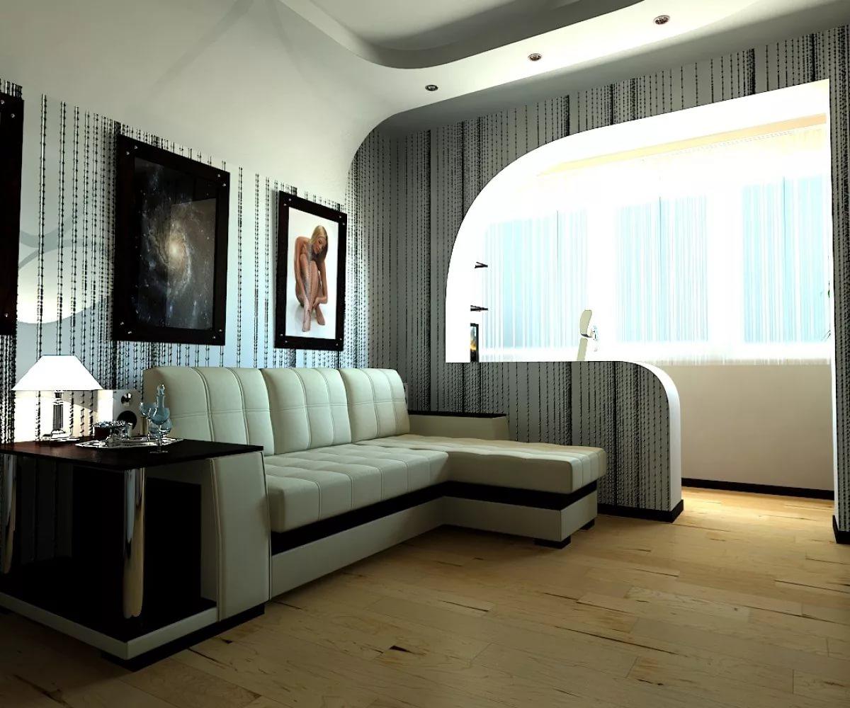 Арочные проемы в дизайне однокомнатной квартиры