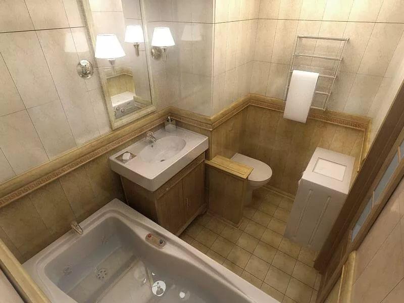 Варианты дизайна ванной 4кв.м