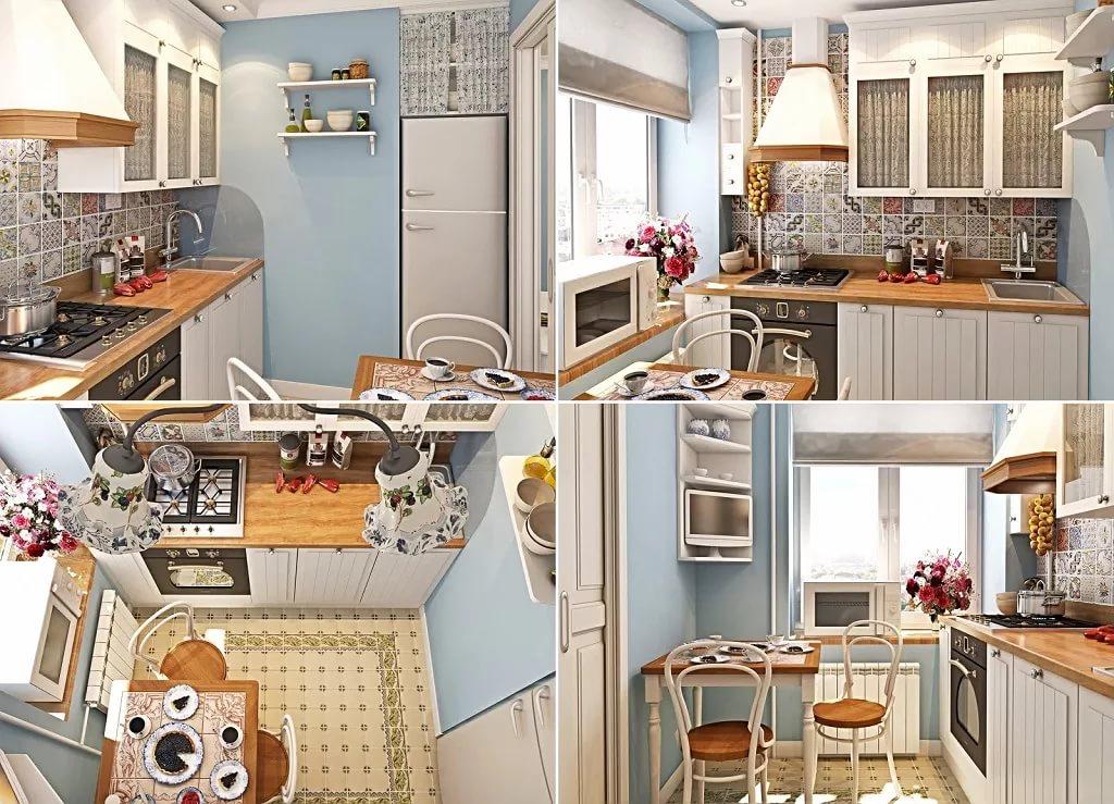 Варианты размещения мебели на кухне 6 кв.м.