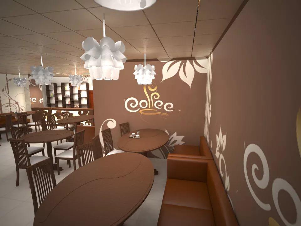Вариант дизайна классической кофейни
