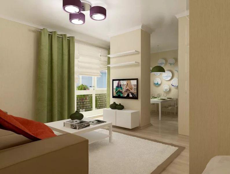 Вариант оформления интерьера в квартире в новостройке