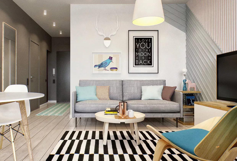 Вариант оформления квартиры-студии 25 кв. м