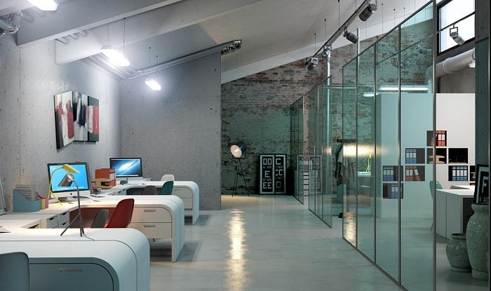 Вариант оформления офиса в современном стиле