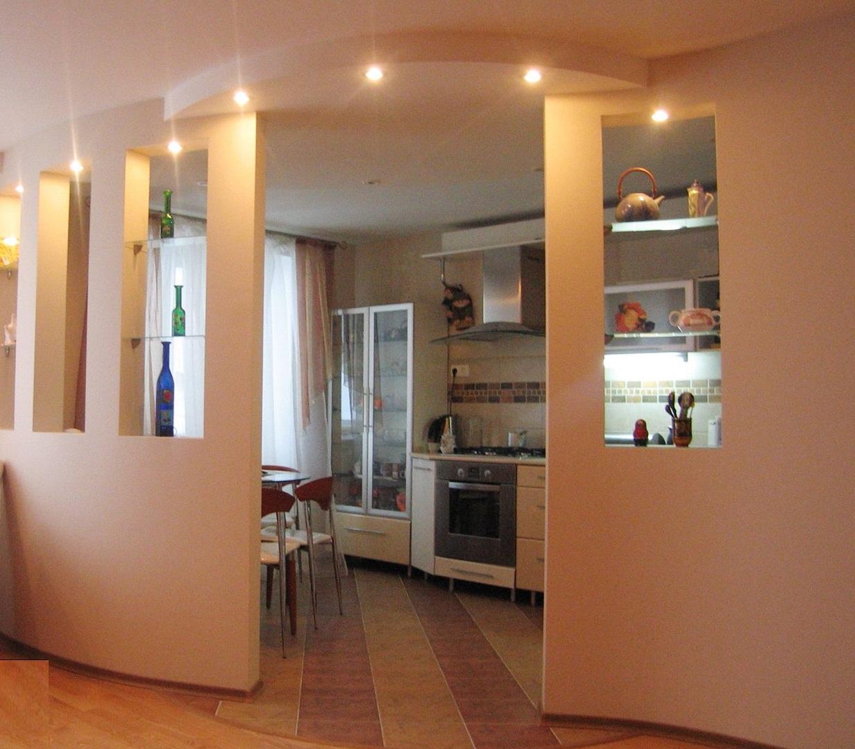 Вариант перепланировки кухни в двухкомнатной квартире