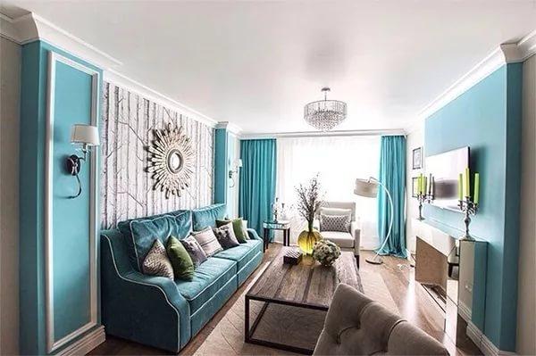 Вариант цветового решения маленькой гостинной