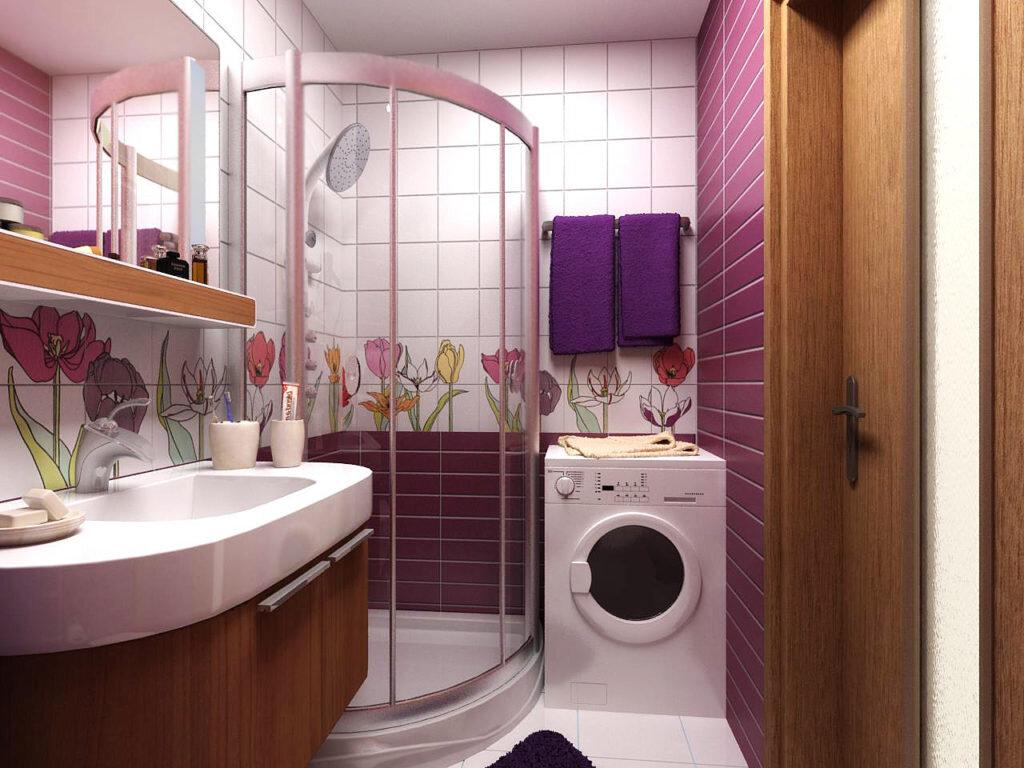Вариант цветовой комбинации для маленькой ванной