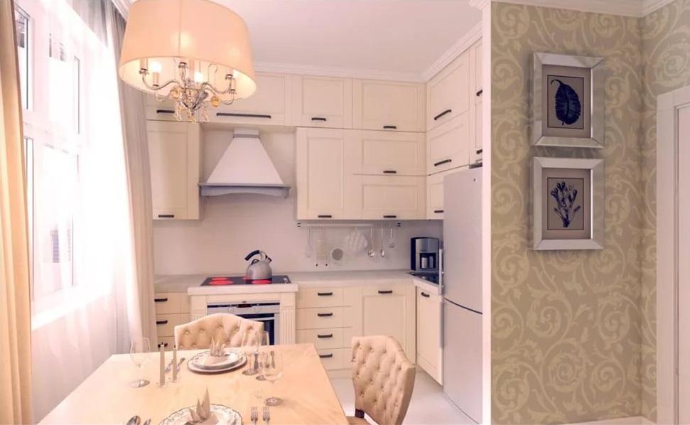 Визуальное зонирование кухни в двухкомнатной квартире