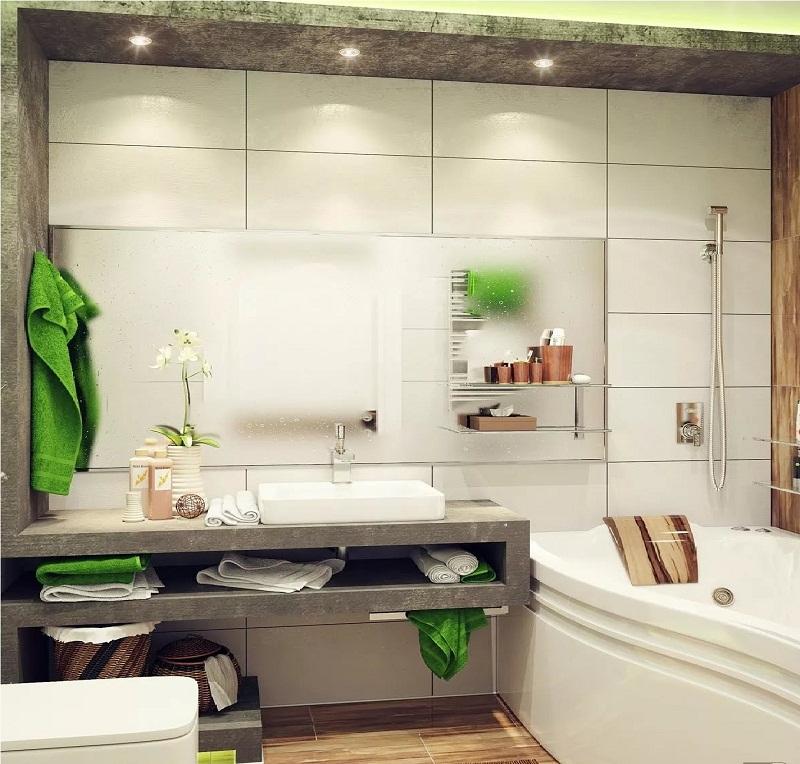 Визуальное увеличение маленькой ванной