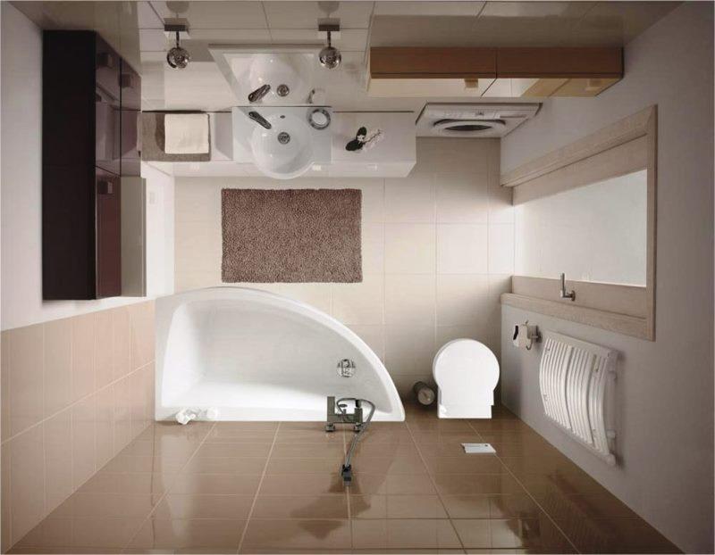 Встраиваемая техника в ванной комнате 4кв.м