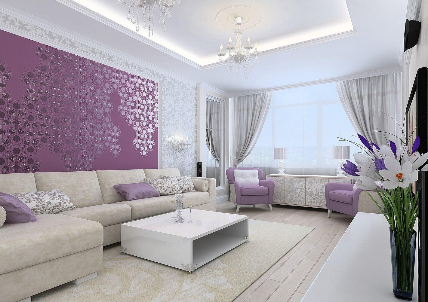 Выбор цвета гостинной 15 кв.м от направления окна