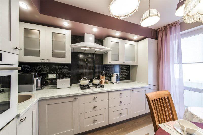 Газовая плита в интерьере кухни 9 кв. м.