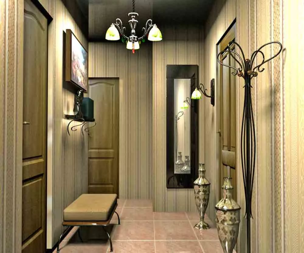 Гардеробные стойки в дизайне двухуровневой квартиры