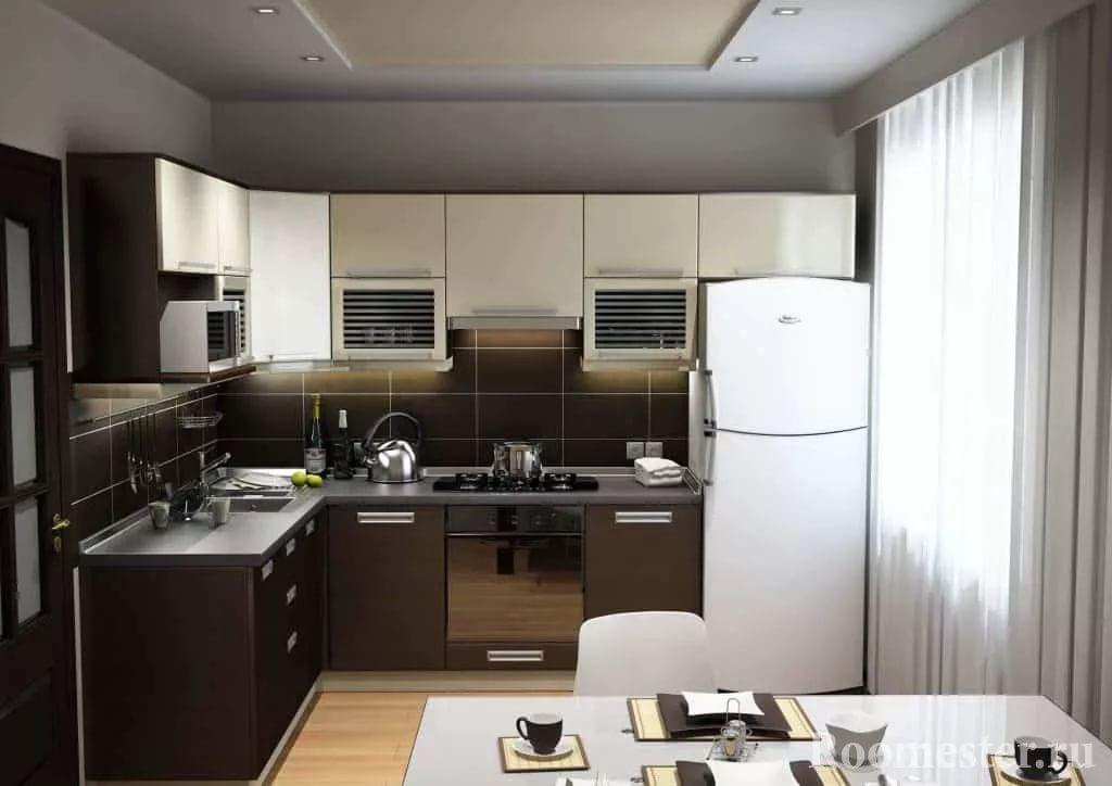 Гарнитур для кухни в двухкомнатной квартире
