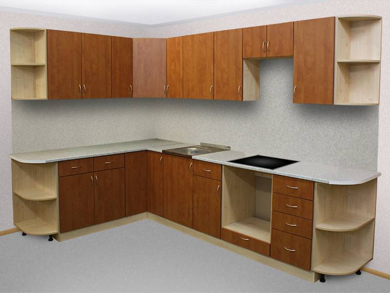 Гарнитур для кухни 6 кв.м из ЛДСП