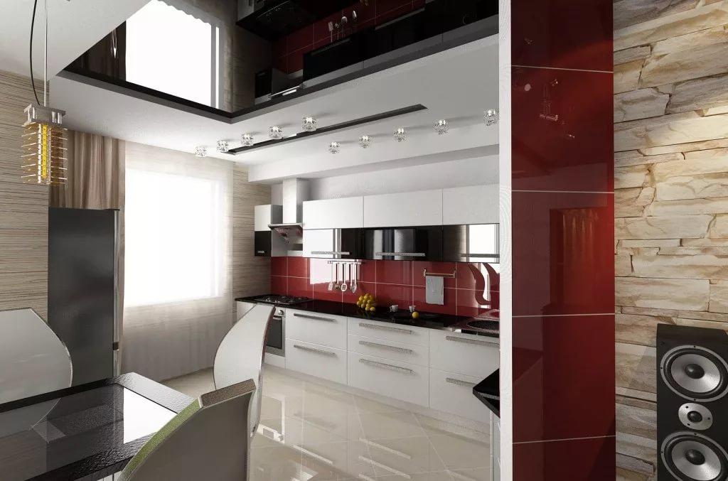 Гарнитур под заказ для кухни в двухкомнатной квартире