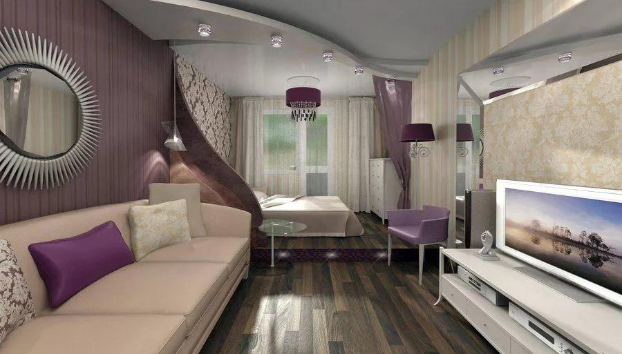 Гостиная зона в объединенной гостиной-спальне