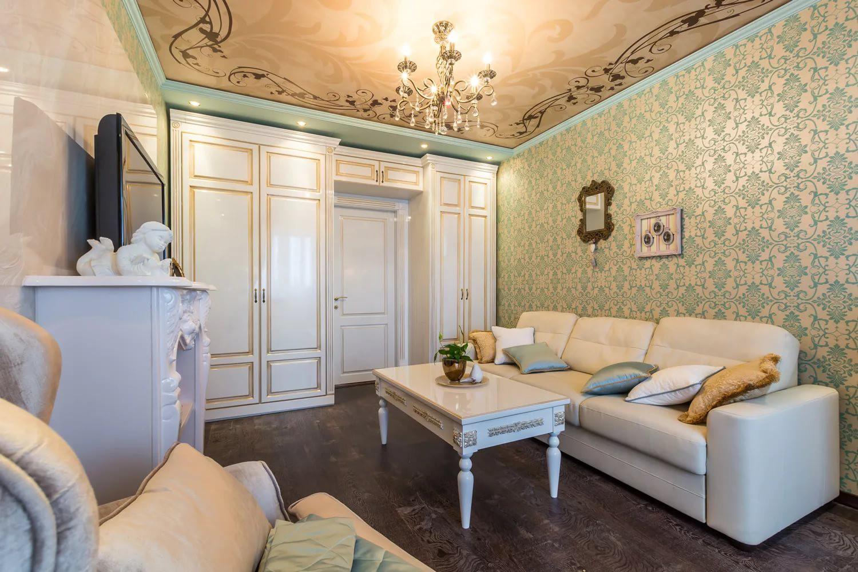 Гостиная 18 кв.м в классическом стиле