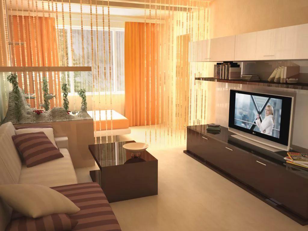 Гостиная 20 кв.м разделенная  на спальню и комнату отдыха