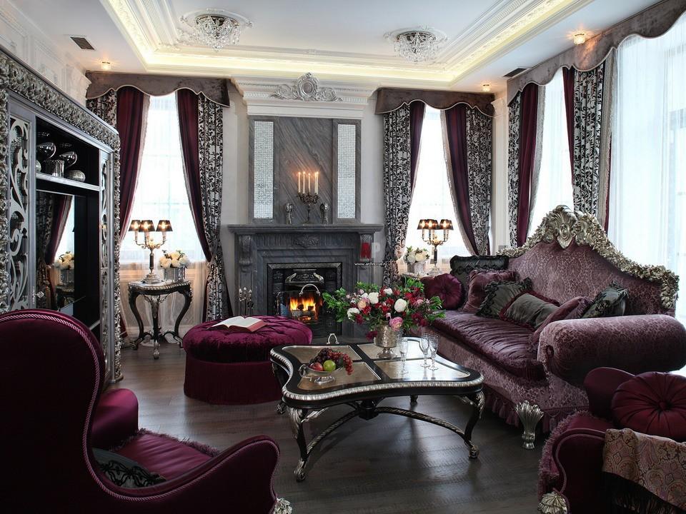 Гостинная 15 кв.м в стиле рококо