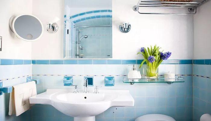 Декоративные детали в ванной комнате 4кв.м