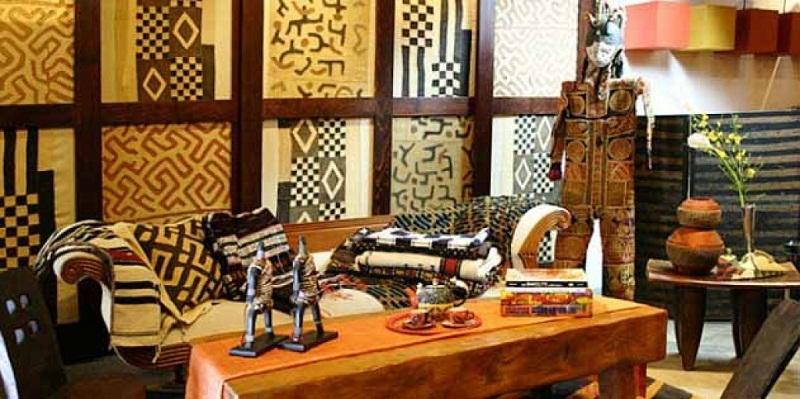 Декорирование деревянного дома в африканском стиле