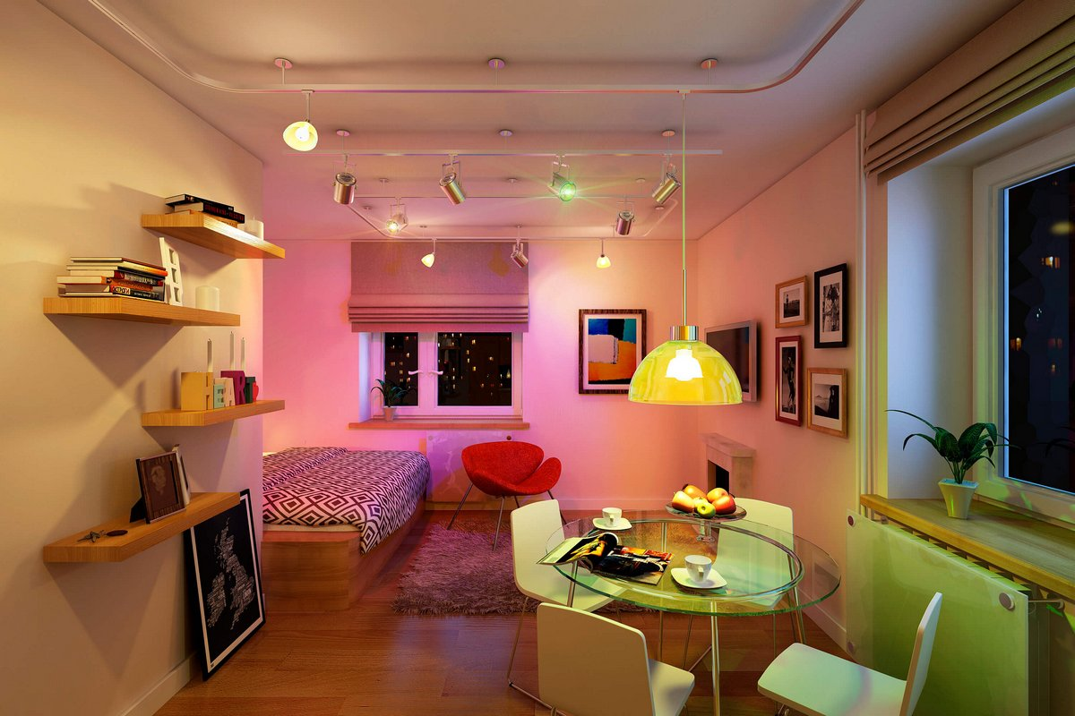 Декорирование однокомнатной квартиры