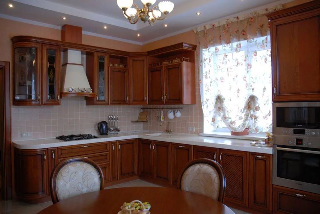 Декорирование угловой кухни