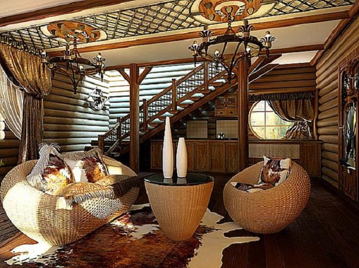 Деревянный дом в африканском стиле
