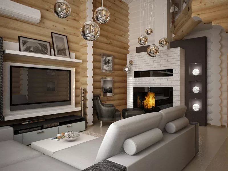 Деревянный дом в современном стиле,
