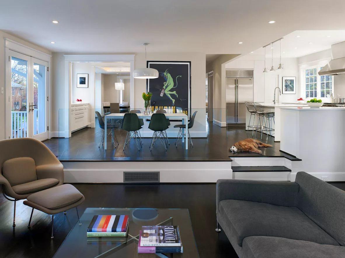 Дизайно кухни на подиуме