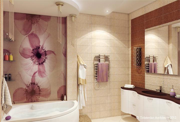 Дизайн ванной комнаты в квартире в новостройке