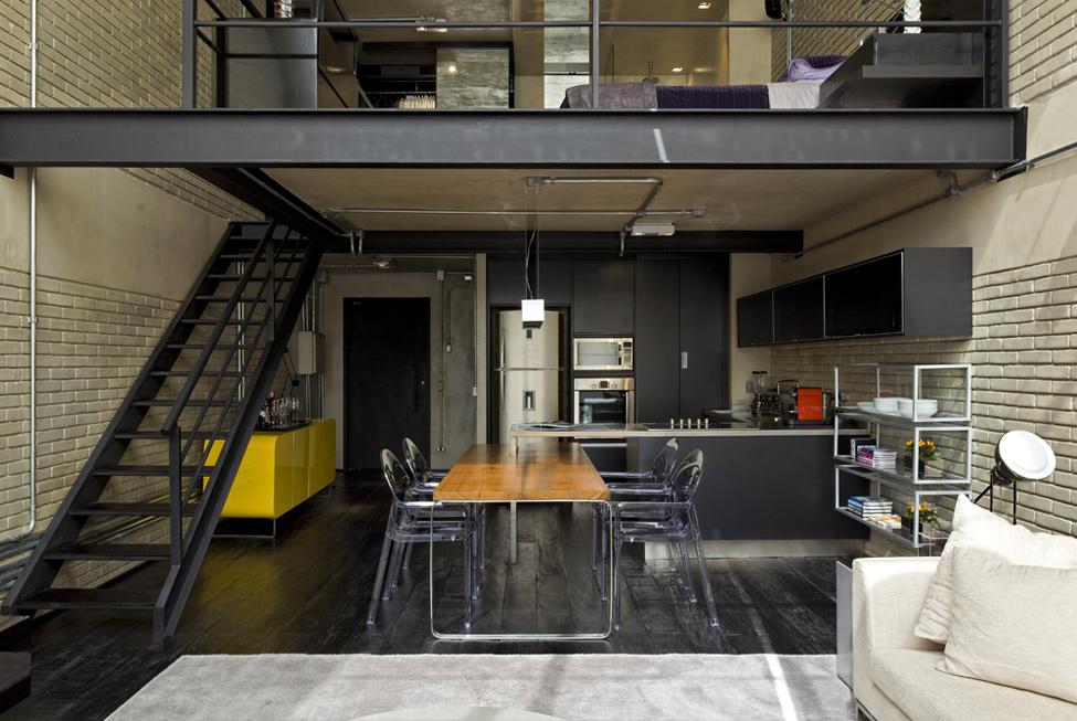 Дизайн двухуровневой квартиры в стиле лофт