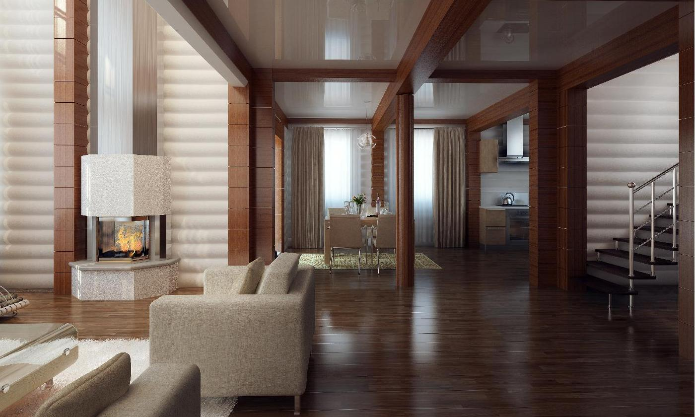 кого увидела дизайн отделки деревянного дома внутри фото касается