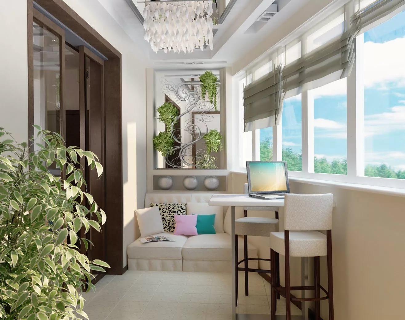 Дизайн интерьера балкона: варианты дизайна, объединяем балко.