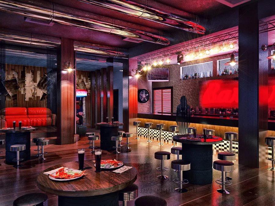 Дизайн интерьера бар-ресторана