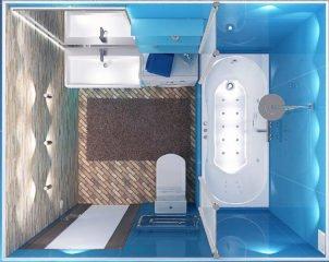 Дизайн интерьера ванной 4 кв. м