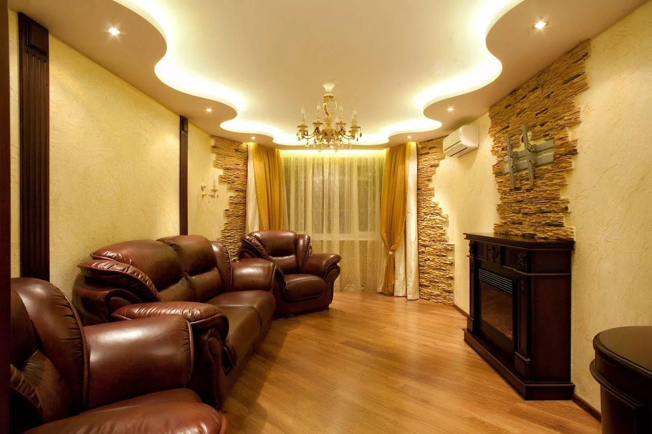 Дизайн интерьера гостиной в новостройке