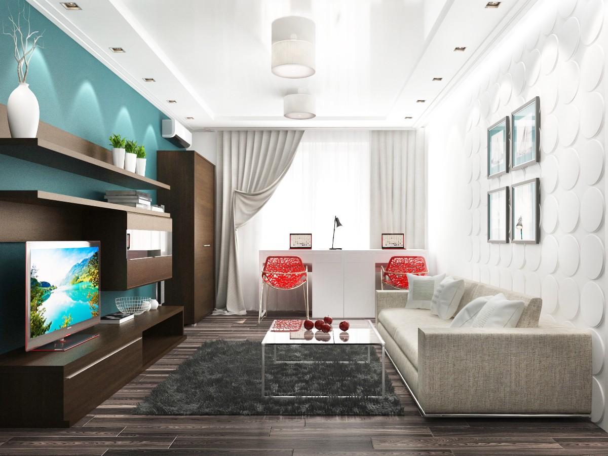 Дизайн интерьера гостиной площадью 20 м