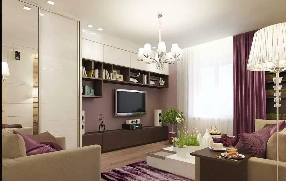 Дизайн интерьера гостиной 18 кв. с функциональными зонами