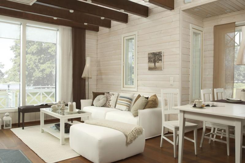 Дизайн интерьера дачного дома в светлых тонах
