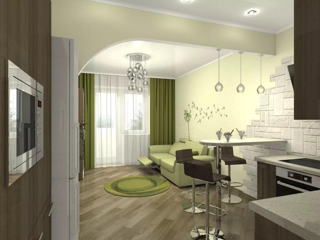 Дизайн интерьера квартиры-студии 25 кв. м