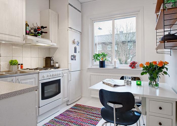 Дизайн интерьера кухни в двухкомнатной квартире