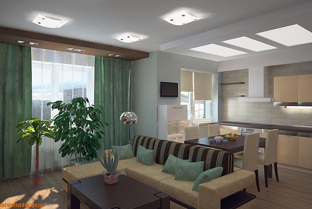 Дизайн интерьера кухни-гостиной 20 кв.м