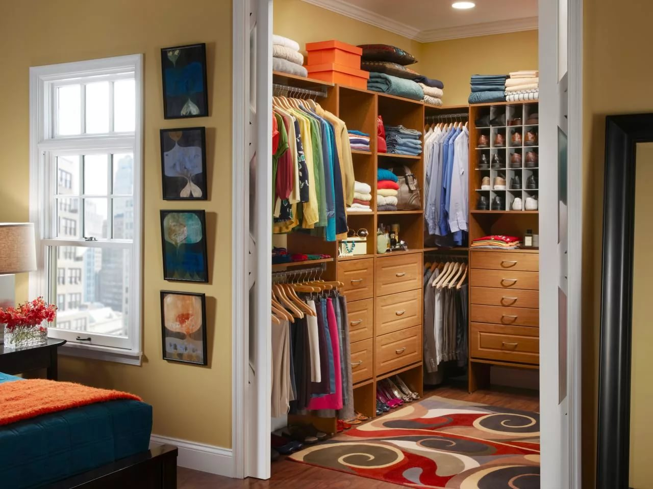 Дизайн интерьера спальни с гардеробной